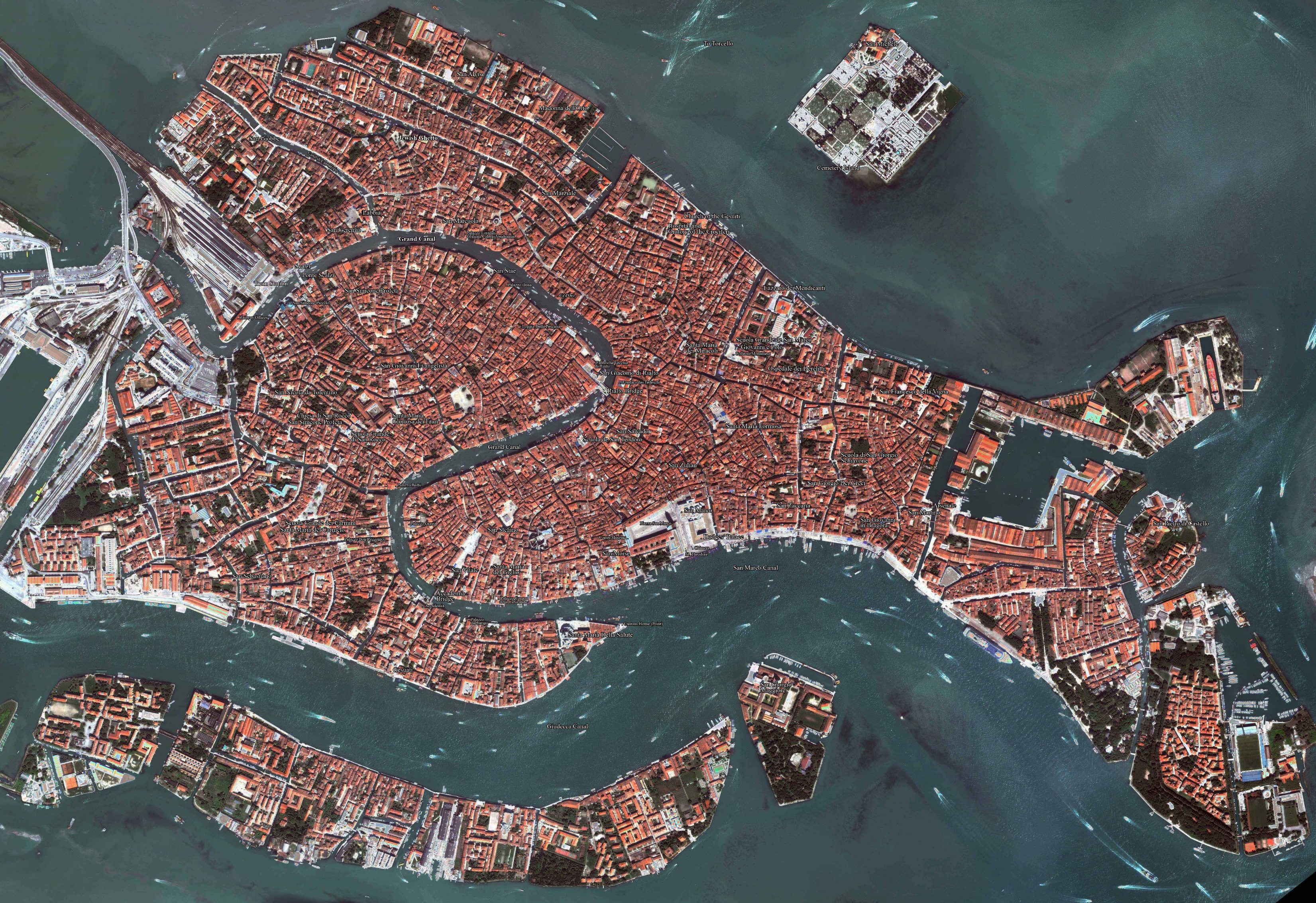 Venice Aerial Map Venice Italy Mappery - Aerial view maps
