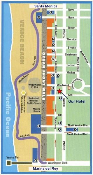 Venice Beach Map Venice Beach California Mappery - Venice beach boardwalk map