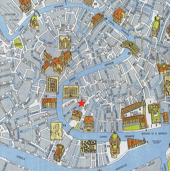 Venice Street Map Venice Italy mappery – Tourist Map Of Venice Italy