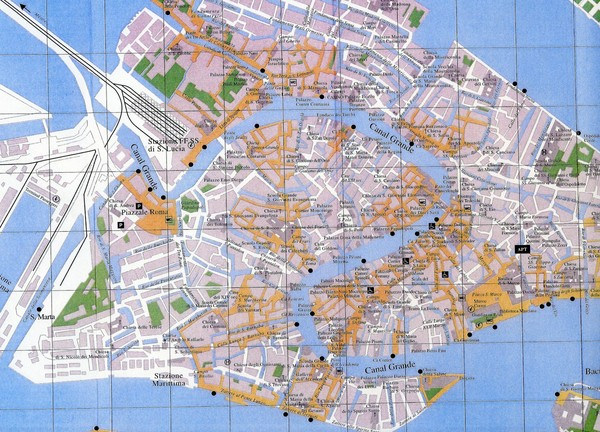map of italy with cities in italian. Map of Venice, Italy showing