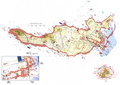 Ventotene Tourist Map