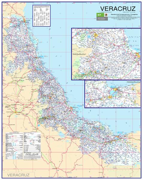 Veracruz Road Map Conchal Mexico mappery