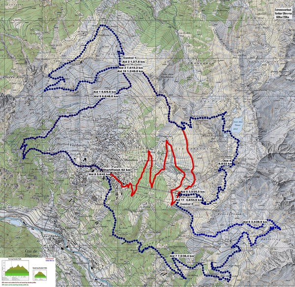 Haute Route Ski Tour Map Verbier Variant Chamonix France mappery