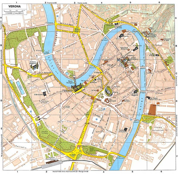 Verona Tourist Map Verona Italy mappery – Tourist Map Of Italy