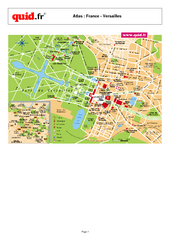 Versailles Tourist Map