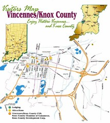 Vicennes and Knox County Indiana Visitor Map