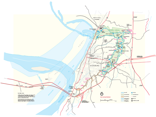 Vicksburg National Military Park Official Park Map