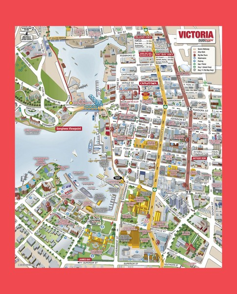 Map Of Vancouver City. Tourist map of Victoria City