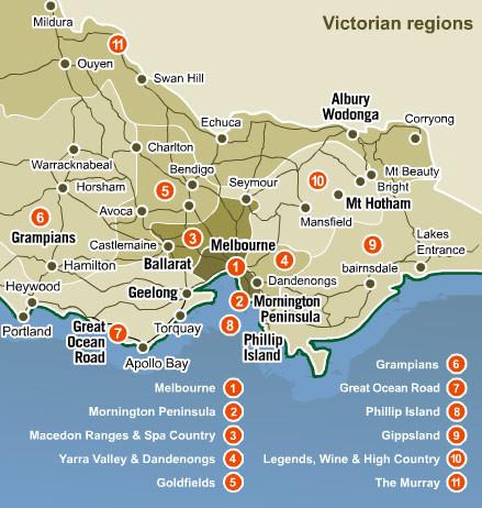 Victoria Australia Map.Victoria Map Victoria Australia Mappery
