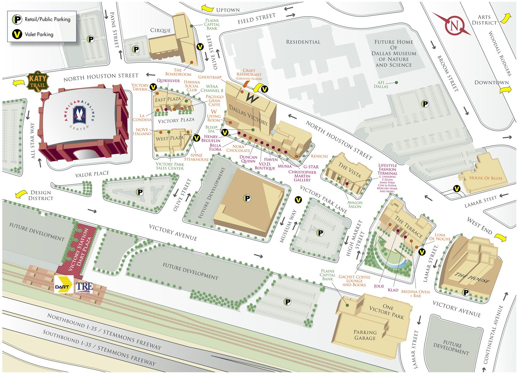 Victory Park Map - Victory Park Dallas TX • mappery on