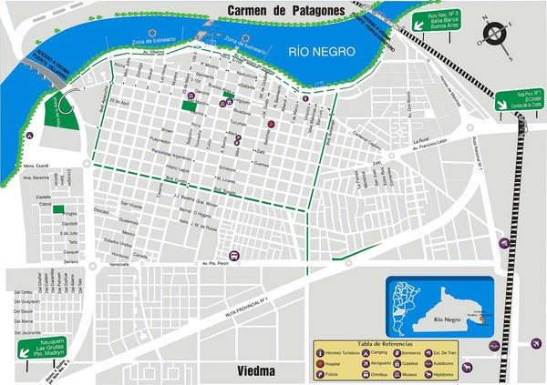 Viedma Tourist Map