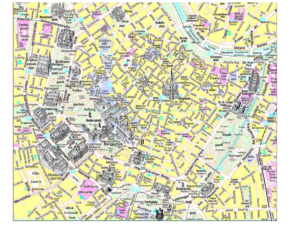 Vienna City Tourist Map Vienna mappery – Tourist Map Of Vienna Austria