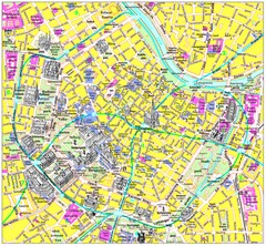 Vienna Inner City Tourist Map