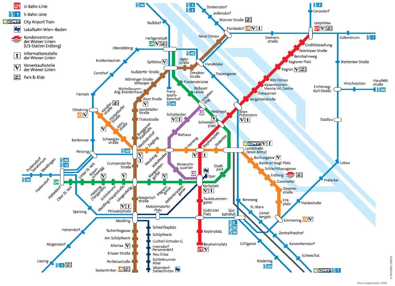 Subway Map Vienna