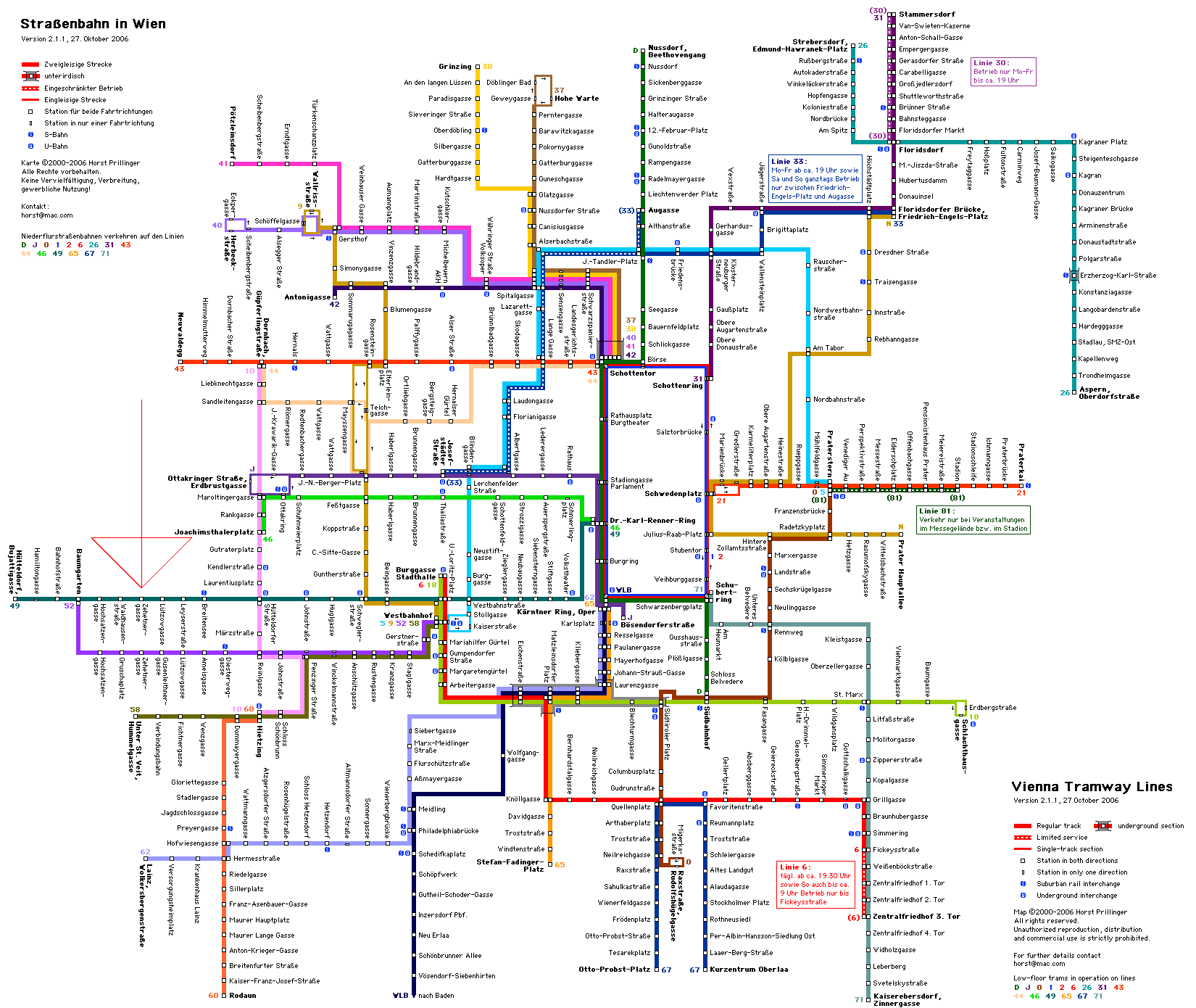 Vienna Public Transportation Map Vienna mappery