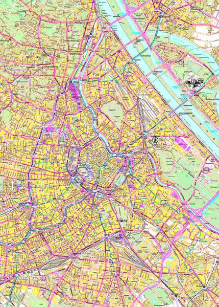 Vienna Street Map Vienna Austria mappery
