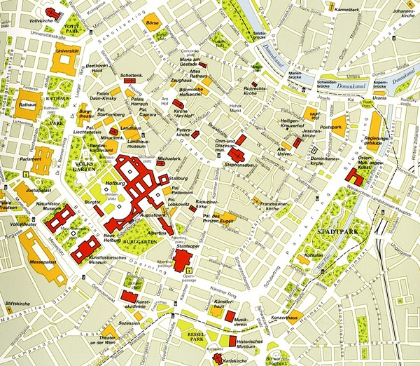 Vienna centre Map vienna mappery