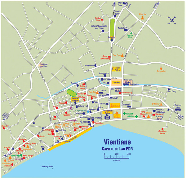 Vientiane City Map