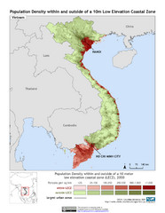 Vietnam 10m LECZ and Population Density Map