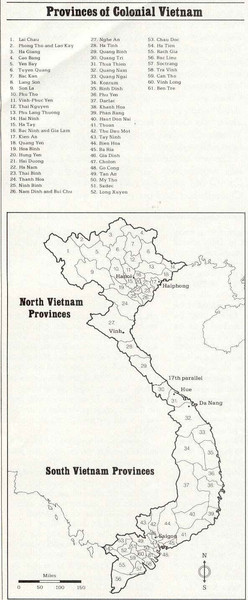 Vietnam Colonial Provinces Map