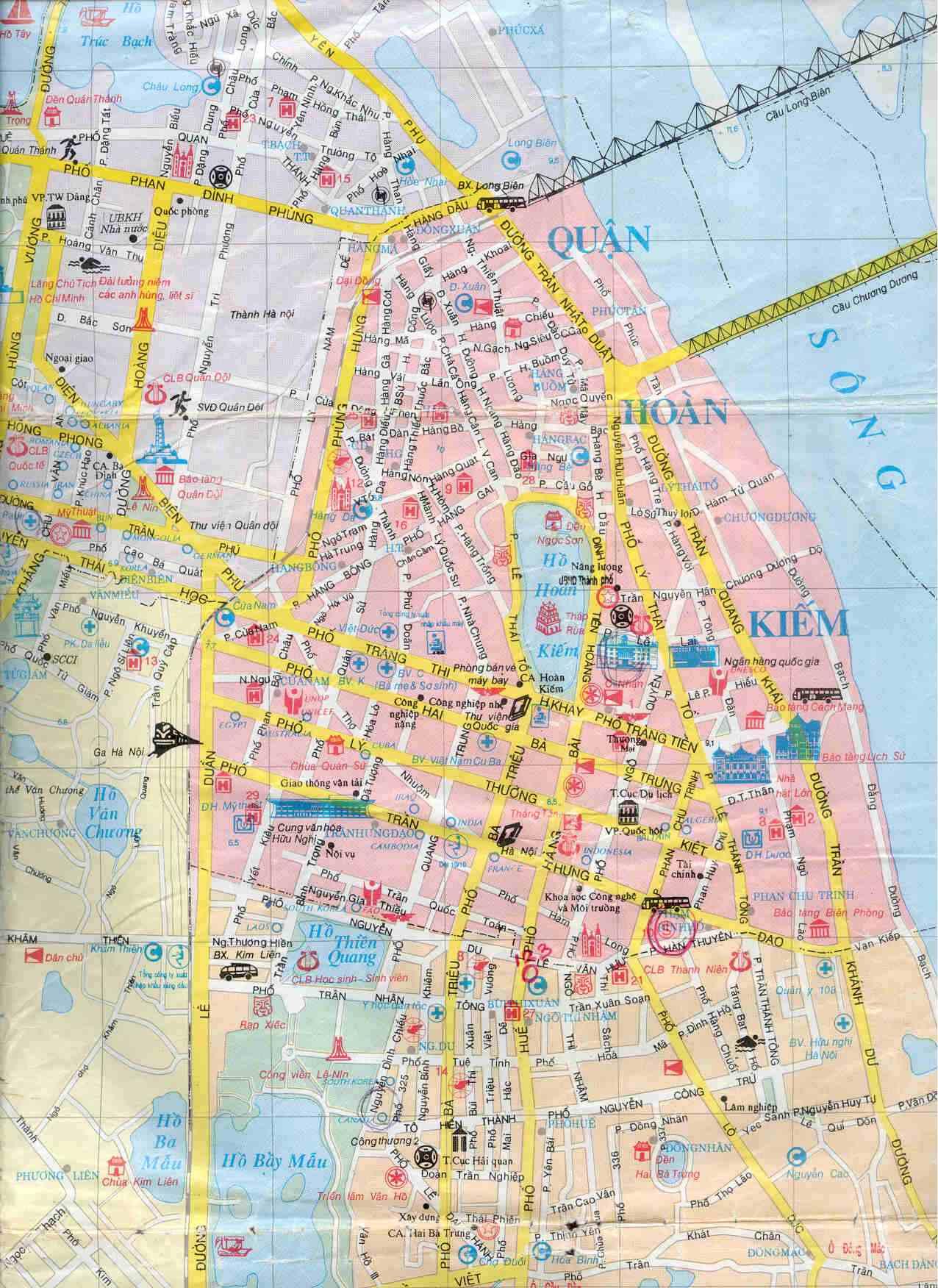 Vietnam Tourist Map Vietnam mappery