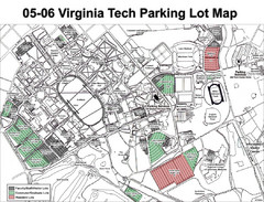 Viginia Tech Parking Map