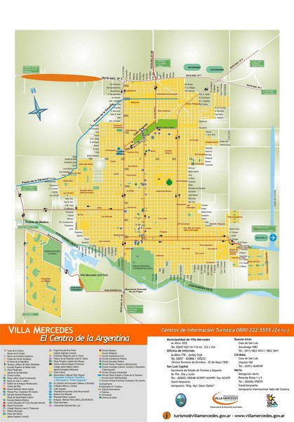 Villa Mercedes Tourist Map