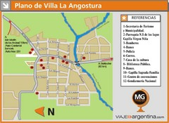 Villa la Angostura Tourist Map