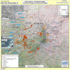 Villages Destroyed in Darfur, Sudan Map