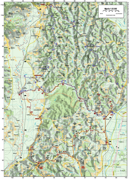 Villages and Sutla River Valley Bike Route Map