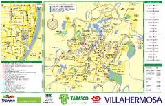 Villahermosa tourist map