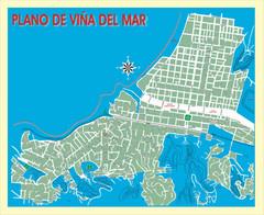 Valparaiso Tourist Map Valparaiso Chile mappery