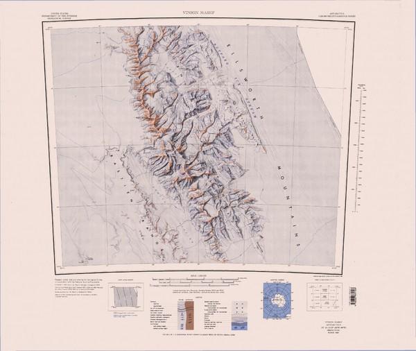 Vinson Massif Topo Map Vinson Massif Antarctica mappery