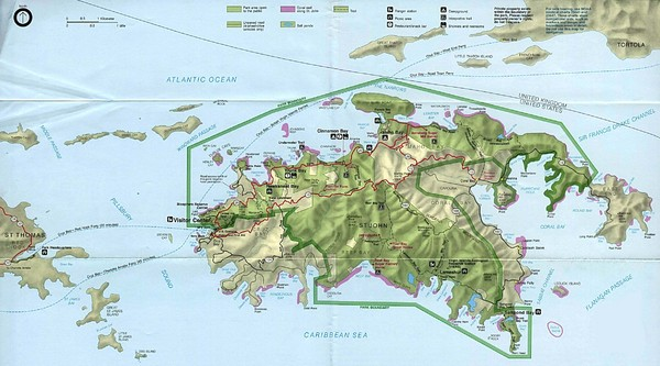 Virgin Islands National Park Tourist Map