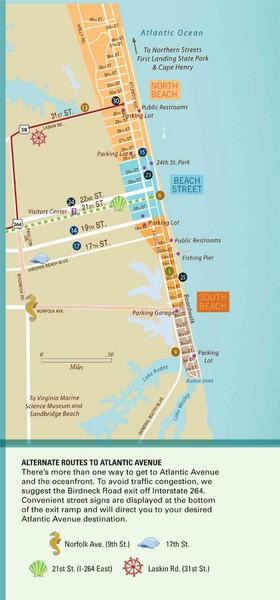 Virginia Beach Tourist Map  Virginia Beach  Mappery