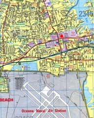 Virginia Beach, Virginia City Map
