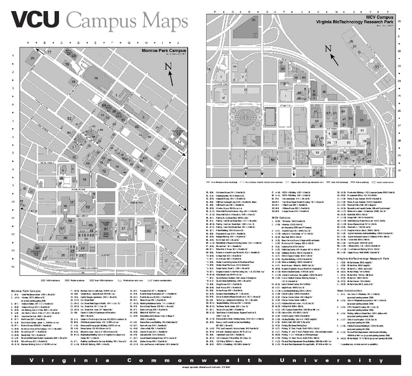 Virginia Commonwealth University Map   Richmond Virginia • mappery