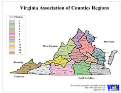 Virginia Counties Map
