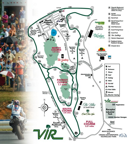 Virginia International Raceway Guide Map