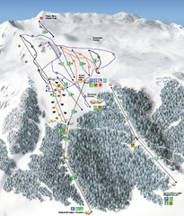 Vitosha Ski map