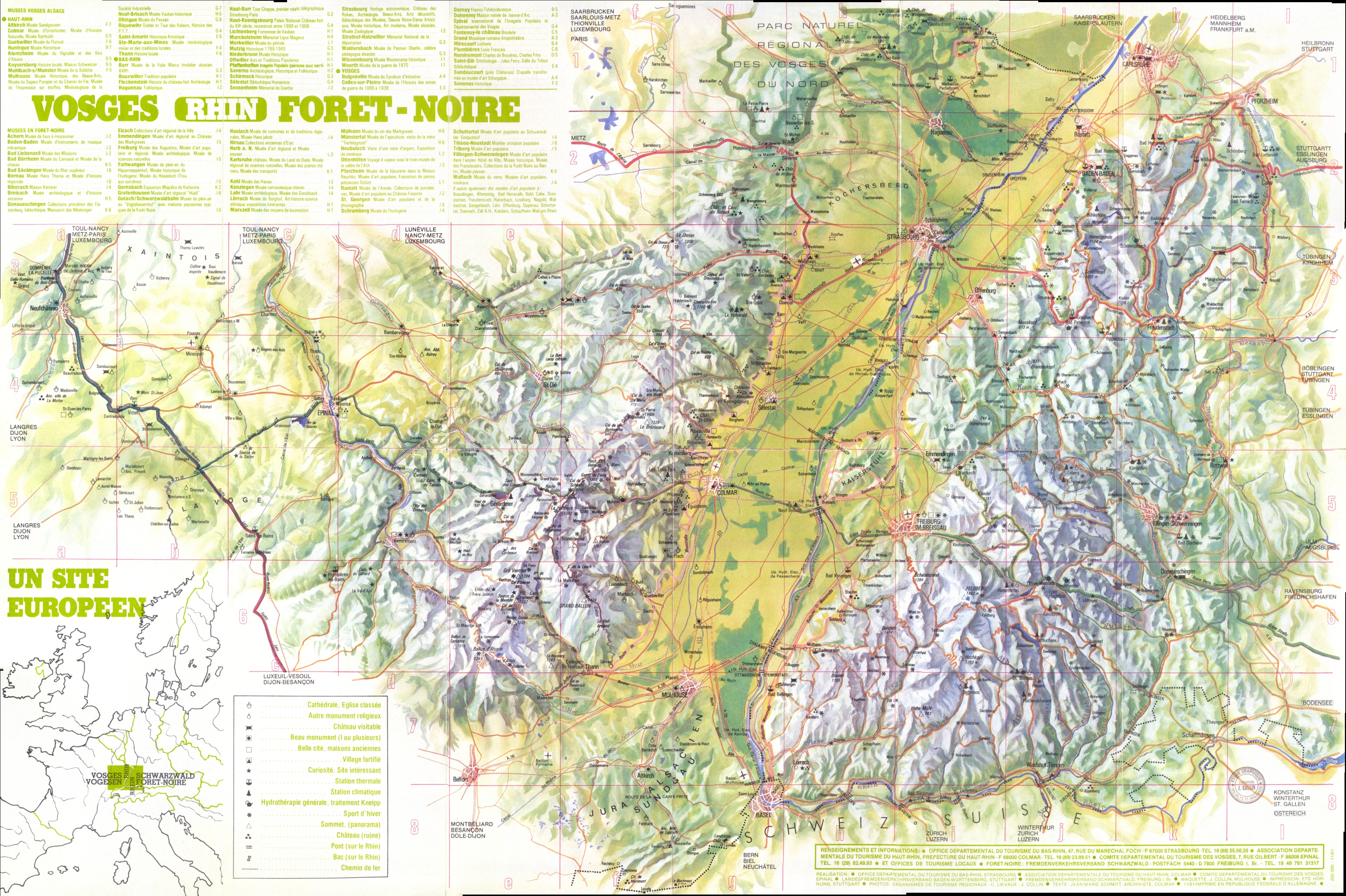 Vosges panorama Map Vosges France mappery