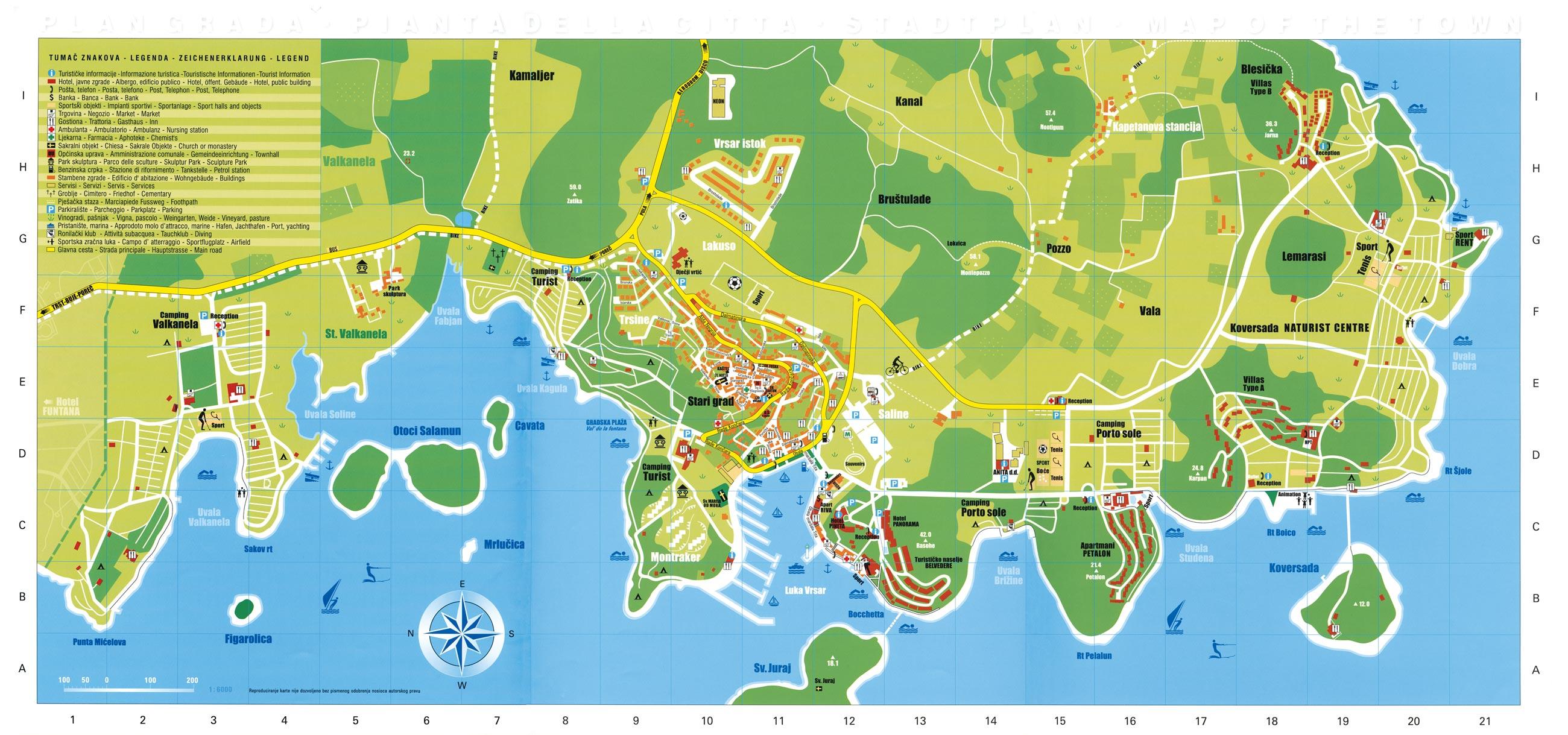 Vrsar Tourist Map Vrsar Croatia Mappery