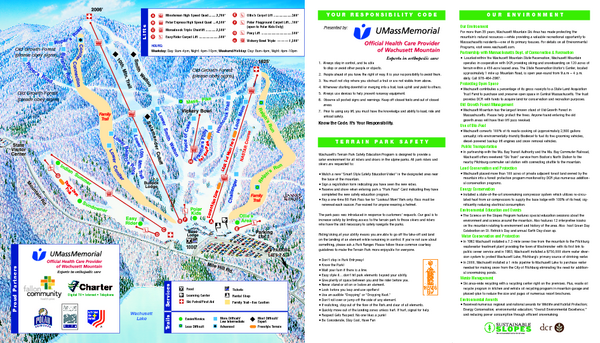 Wachusett Mountain Ski Trail Map