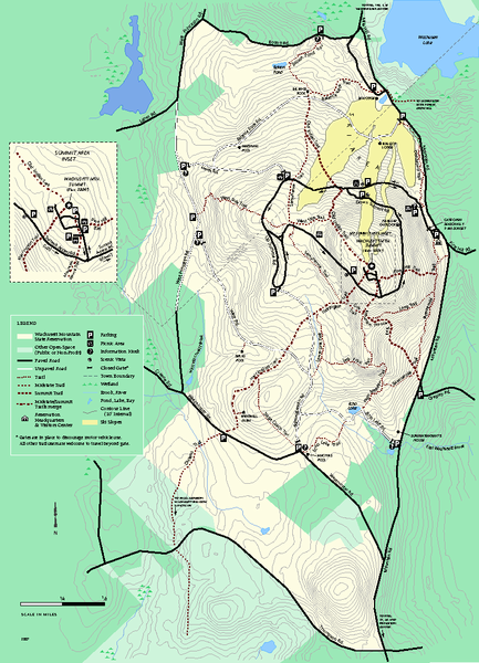 Wachusett Mountain State Reservation trail map