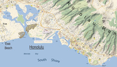 Waikiki - Oahu - map-illustrator.com Map