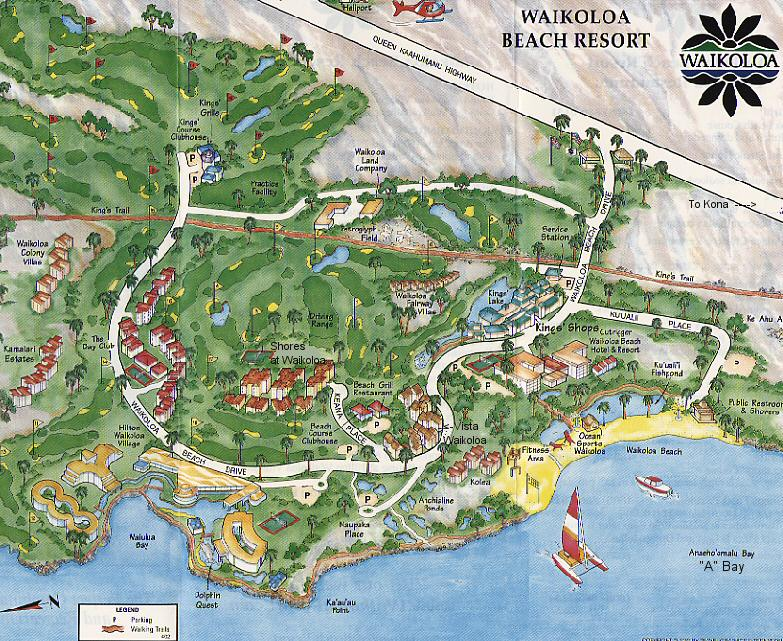 Waikoloa Beach Resort Map Hawaii