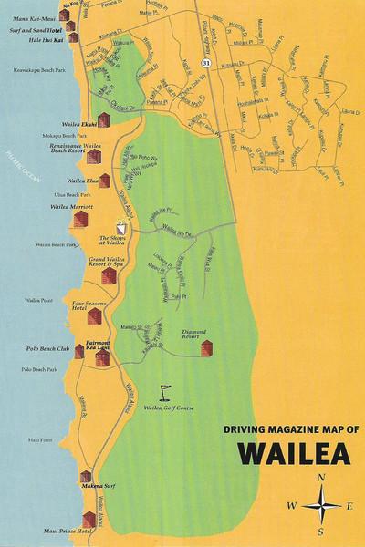 Wailea Hawaii Map.Wailea Makena Street Map Wailea Maui Mappery