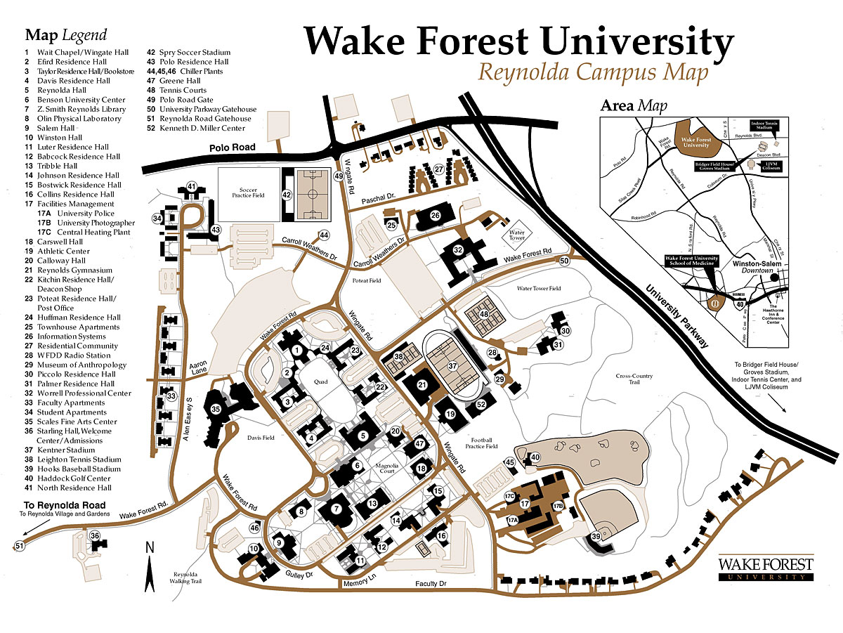 Wake Forest University Map | compressportnederland