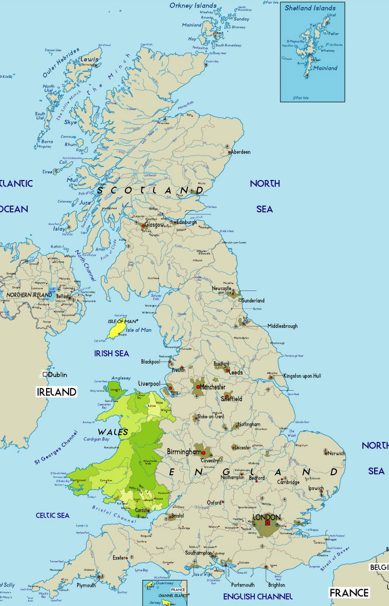 Map Of England Wales.Wales Map Wales Uk Mappery