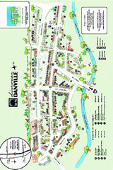 Walking Map of Downtown Danville, California